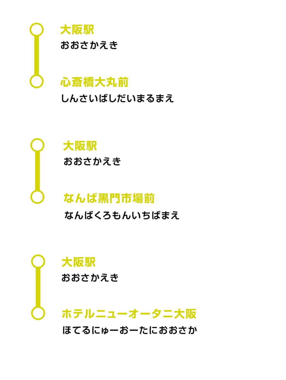 シティ 表 大阪 バス 時刻
